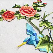 Материалы для творчества handmade. Livemaster - original item Unmatched thermo embroidery, applique, Birds in the garden. Handmade.