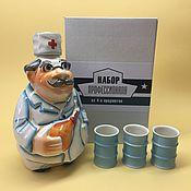 handmade. Livemaster - original item Doctor shtof porcelain. Professional kit. Handmade.