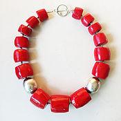 Украшения ручной работы. Ярмарка Мастеров - ручная работа Red коралловые бусы. Handmade.