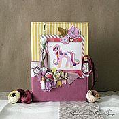 """Блокноты ручной работы. Ярмарка Мастеров - ручная работа Девчачий блокнот """"Пони-радуга"""". Handmade."""