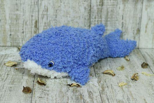 Игрушки животные, ручной работы. Ярмарка Мастеров - ручная работа. Купить Плюшевая эко-игрушка голубой кит Луи. Handmade.