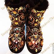 Обувь ручной работы. Ярмарка Мастеров - ручная работа УГГИ ВЫШИТЫЕ БИСЕРОМ И КАМНЯМИ СВАРОВСКИ. Handmade.