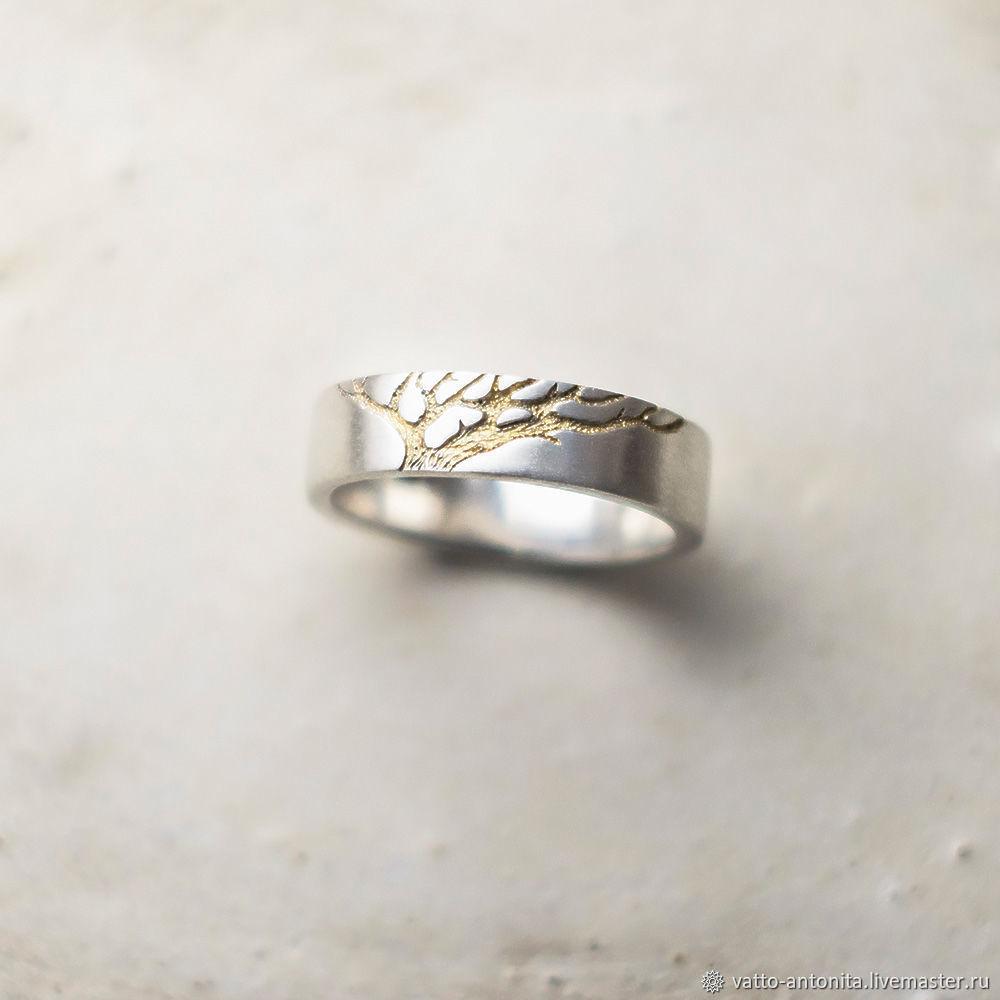 Свадебные украшения ручной работы. Ярмарка Мастеров - ручная работа. Купить  Обручальное кольцо Золотое Древо ... 785fe89c45a