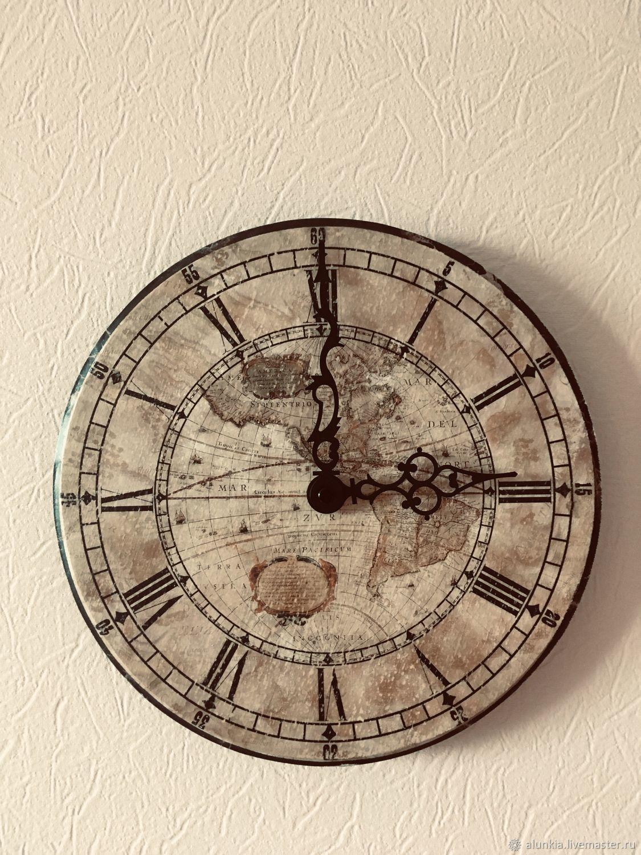 Часы Старинная карта, Часы, Москва,  Фото №1
