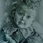 Картины ручной работы. Ярмарка Мастеров - ручная работа портрет малышки. Handmade.
