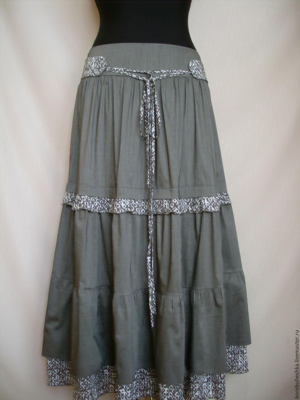 Летние бохо юбки