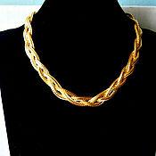 Винтаж handmade. Livemaster - original item Golden Classics braided chain necklace from Avon. Handmade.
