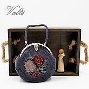 handmade. Livemaster - original item Round handbag with roses. Handmade.