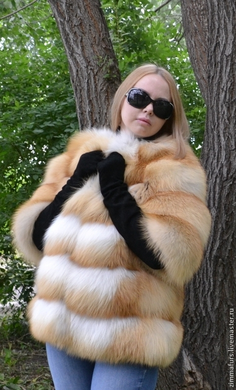 Верхняя одежда ручной работы. Ярмарка Мастеров - ручная работа. Купить Шуба. Жакет из меха рыжей сибирской лисы. Поперечная раскладка.. Handmade.