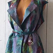 Одежда ручной работы. Ярмарка Мастеров - ручная работа Жилет  валяный Тёплое лето шерсть100% шёлк. Handmade.