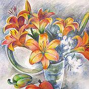 Картины и панно ручной работы. Ярмарка Мастеров - ручная работа Последние краски осени. Handmade.