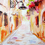 """Картины и панно ручной работы. Ярмарка Мастеров - ручная работа Картина """"Солнце над городом"""" бесплатная доставка. Handmade."""