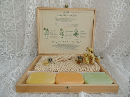Винтажная одежда и аксессуары. Ярмарка Мастеров - ручная работа. Купить Винтажный набор для ванной, Германия. Handmade. Комбинированный, подарок женщине