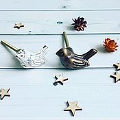 Для дома и интерьера ручной работы. Ярмарка Мастеров - ручная работа мебельные ручки - птички. Handmade.