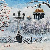 Картины и панно handmade. Livemaster - original item Oil painting Winter Petersburg. Handmade.
