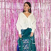 handmade. Livemaster - original item Embroidered Suit Women Velvet Blazer & Skirt Embroidered. Handmade.