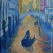 """Картины ручной работы. Ярмарка Мастеров - ручная работа Батик панно """"Венеция"""". Handmade."""