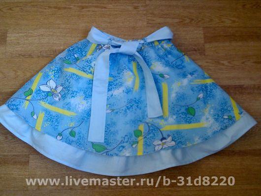 Красивая,летняя юбочка с поясом,для девочки 6-7 лет(при заказе любой размер)