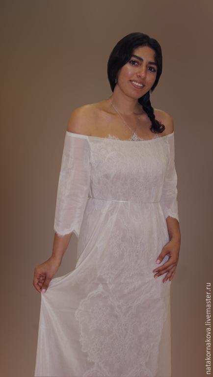 Одежда и аксессуары ручной работы. Ярмарка Мастеров - ручная работа. Купить Платье для свадебной фотосессии. Handmade. Белый, платье летнее