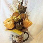 Сувениры и подарки ручной работы. Ярмарка Мастеров - ручная работа Сладкая чашка цветов. Handmade.
