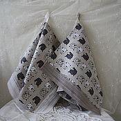 Для дома и интерьера handmade. Livemaster - original item Kitchen towel linen with lace
