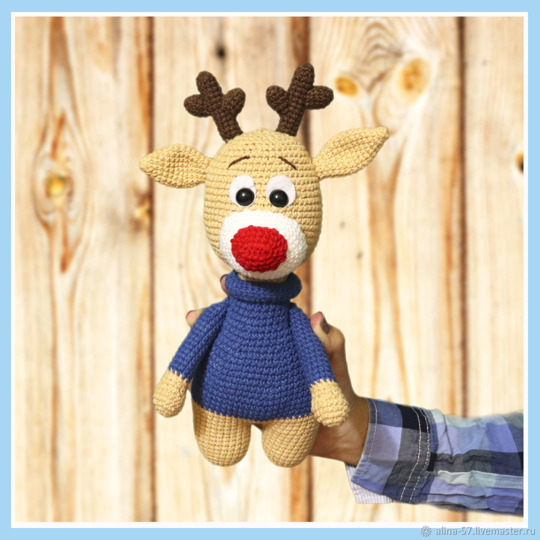 Christmas deer, Stuffed Toys, Azov,  Фото №1