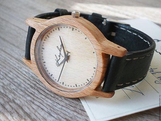 """Часы ручной работы. Ярмарка Мастеров - ручная работа. Купить Деревянные часы PT """"Kryhan Gift"""" (бук) наручные. Handmade."""