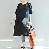 Одежда handmade. Livemaster - original item Casual short sleeve black dress. Handmade.