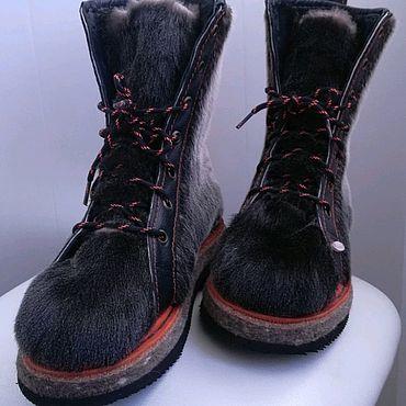 Обувь ручной работы. Ярмарка Мастеров - ручная работа Женские зимние ботинки. Handmade.