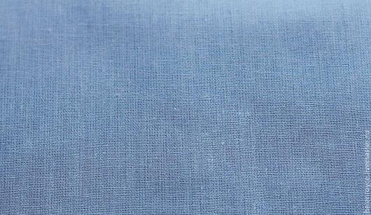 Шитье ручной работы. Ярмарка Мастеров - ручная работа. Купить Ткань Хлопок голубой однотонный. Handmade. Голубой, хлопок