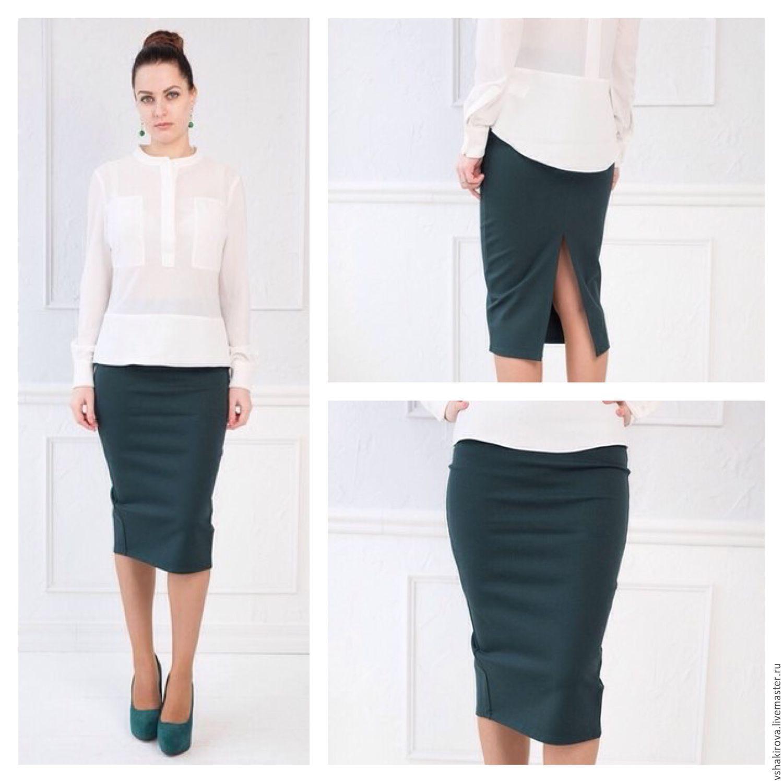Болотная юбка карандаш
