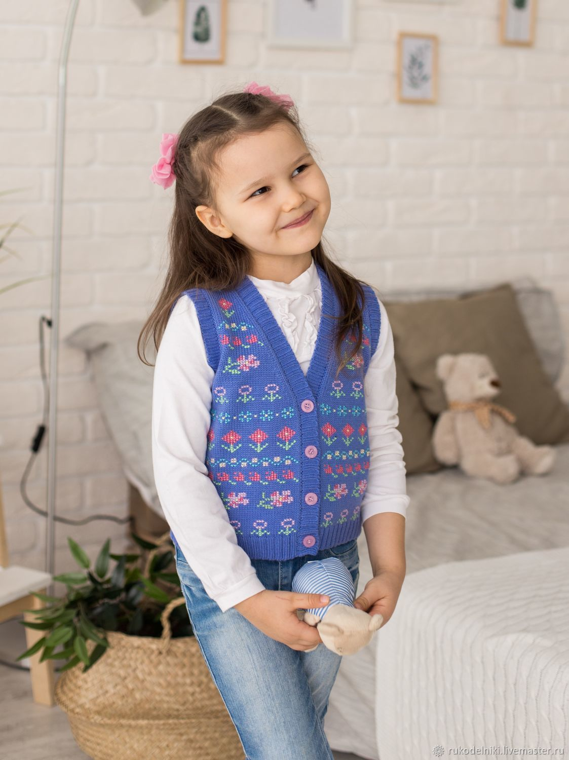 Clothes for Girls handmade. Livemaster - handmade. Buy vest with embroidery.Elegant, clothing for girls