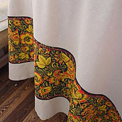 Для дома и интерьера handmade. Livemaster - original item Linen tablecloth with trim. Handmade.