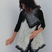 """Одежда handmade. Livemaster - original item Жилет валяный трансформер """"НейроДрево"""". Handmade."""