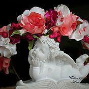 Украшения ручной работы. Ярмарка Мастеров - ручная работа Ободок венок с цветами. Handmade.