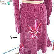 """Одежда ручной работы. Ярмарка Мастеров - ручная работа Кардиган вязаный """"Снежные цветы"""". Handmade."""