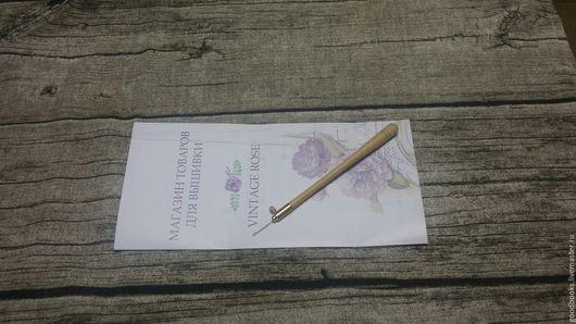 Вышивка ручной работы. Ярмарка Мастеров - ручная работа. Купить Французский Люневильский крючок с иглой № 80. Handmade. Комбинированный