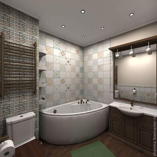 Дизайн интерьера ванной в стиле Прованс. Мария Шанина. Ярмарка Мастеров.