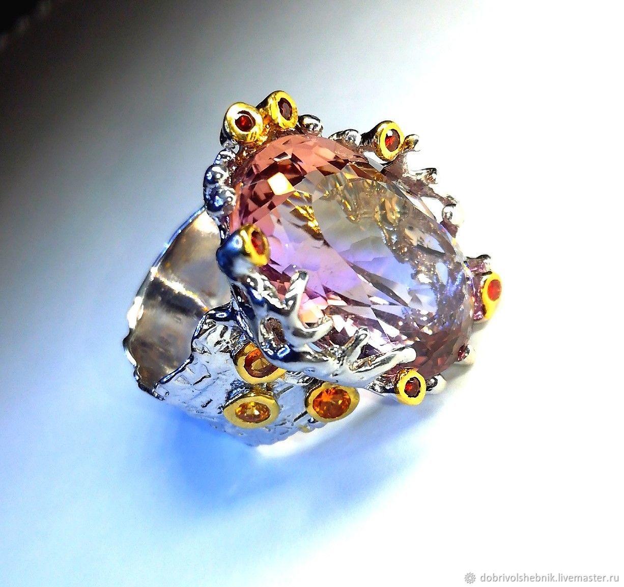 Ring 'Mystery' with ametrin, Rings, Novaya Usman,  Фото №1