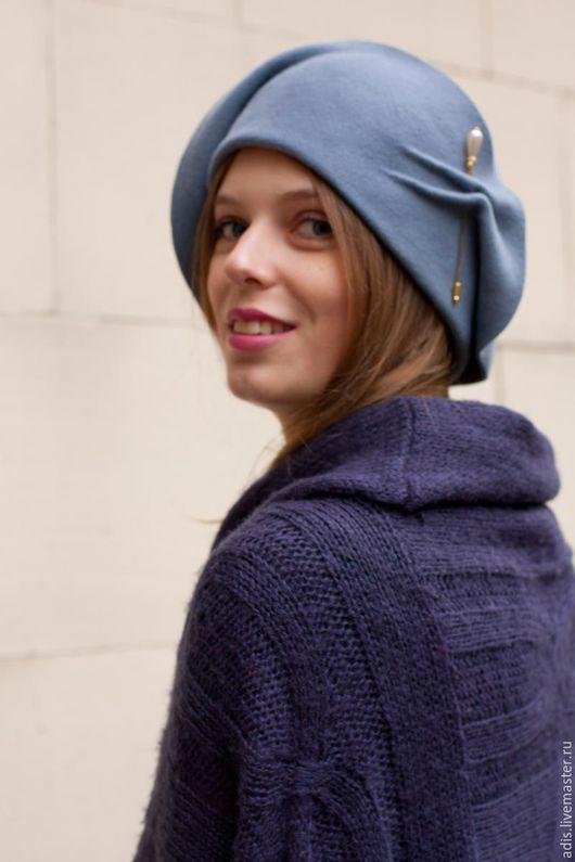 Шляпы ручной работы. Ярмарка Мастеров - ручная работа. Купить Шляпа из велюра «клош антик». Handmade. Шляпа, шляпа из велюра