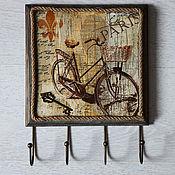 Для дома и интерьера handmade. Livemaster - original item Key hanger In the vicinity of Paris.. Handmade.
