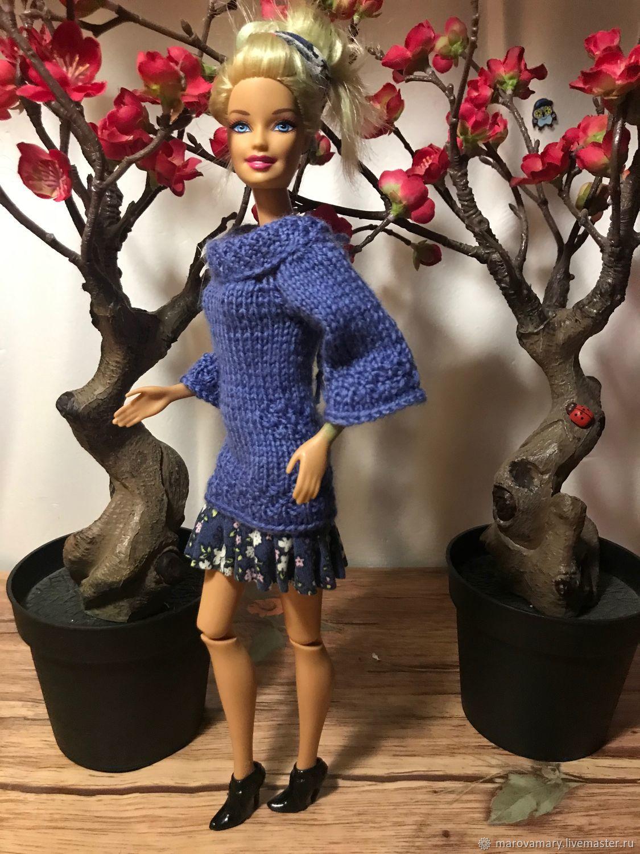 Комбинированное платье мини для барби, Одежда для кукол, Москва,  Фото №1