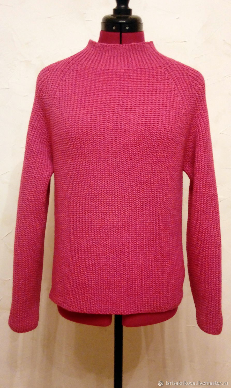 Pink Merino sweater with Raglan sleeve, Sweaters, Verhnedneprovsky,  Фото №1