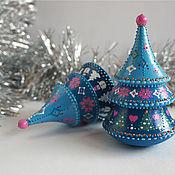 Подарки к праздникам handmade. Livemaster - original item Christmas tree-tumbler with melody. Christmas souvenir.. Handmade.