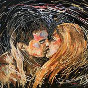 Картины и панно ручной работы. Ярмарка Мастеров - ручная работа Поцелуй. Handmade.