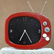 Для дома и интерьера ручной работы. Ярмарка Мастеров - ручная работа Часы  Бабушкин Телевизор. Handmade.