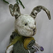 Куклы и игрушки ручной работы. Ярмарка Мастеров - ручная работа Зая в зелёным (2). Handmade.