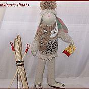 Куклы и игрушки ручной работы. Ярмарка Мастеров - ручная работа Зайки-лыжники. Handmade.