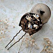"""Украшения ручной работы. Ярмарка Мастеров - ручная работа шпилька для волос """"Модерн"""" скульптурная миниатюра.. Handmade."""