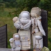 "Куклы и игрушки handmade. Livemaster - original item Народные куклы обереги  семья ""Туманное утро"". Handmade."